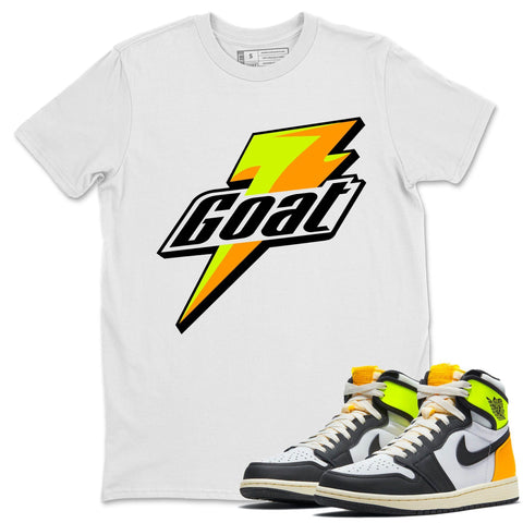 Goat T-Shirt - Air Jordan 1 Volt Gold Air Jordan 1 White Black Volt Gold Unisex Crew Neck T Shirt Volt University Gold 1s White Tee