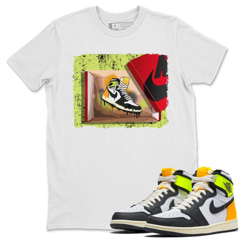 New Kicks T-Shirt - Air Jordan 1 Volt Gold Air Jordan 1 White Black Volt Gold Unisex Crew Neck T Shirt Volt University Gold 1s White Tee