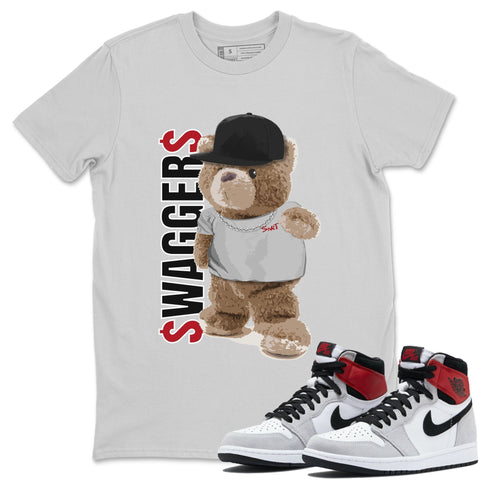 Bear Swaggers T-Shirt - Air Jordan 1 Smoke Grey Air Jordan 1 Shirt Jordan 1 Smoke Grey Silver S