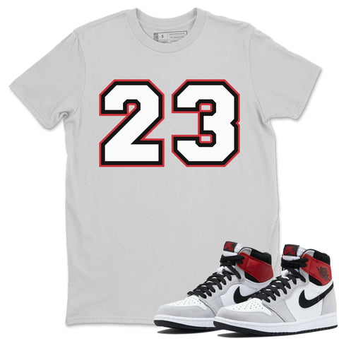 Number 23 T-Shirt - Air Jordan 1 Smoke Grey Air Jordan 1 Shirt Jordan 1 Smoke Grey Silver S