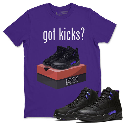 Air Jordan 12 Retro Dark Purple Concord Sneaker Matching Tee Got Kicks Purple T-shirt