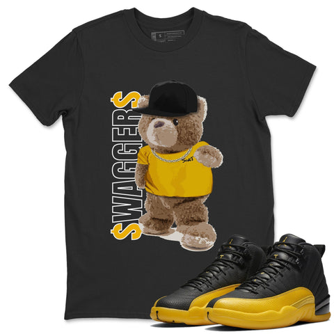 Air Jordan 12 Black And Yellow Sneaker Matching Shirt And