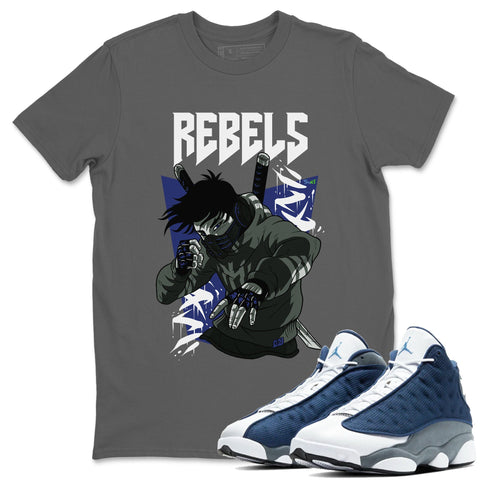 Rebels T-Shirt - Air Jordan 13 Flint Air Jordan 13 Shirt Jordan 13 Flint Cool Grey S