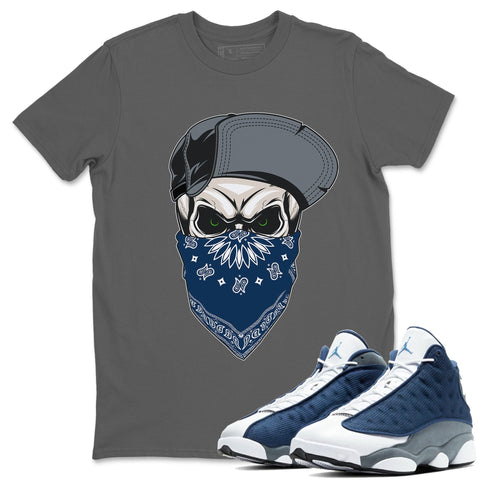 Skull Hat Mask T-Shirt - Air Jordan 13 Flint Air Jordan 13 Shirt Jordan 13 Flint Cool Grey S