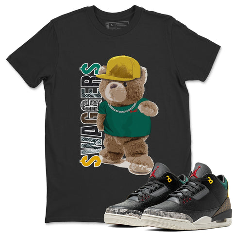 Bear Swaggers T-Shirt - Air Jordan 3 Animal Instinct 2.0 Air Jordan 3 Shirt Jordan 3 Animal Instinct 2.0 Black S