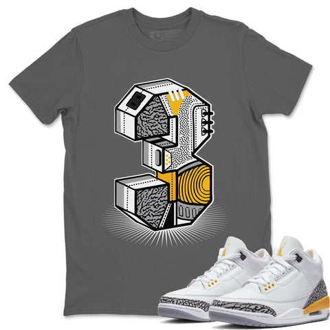 Three Statue T-Shirt - Air Jordan 3 Laser Orange Air Jordan 3 Shirt Jordan 3 Laser Orange Cool Grey S