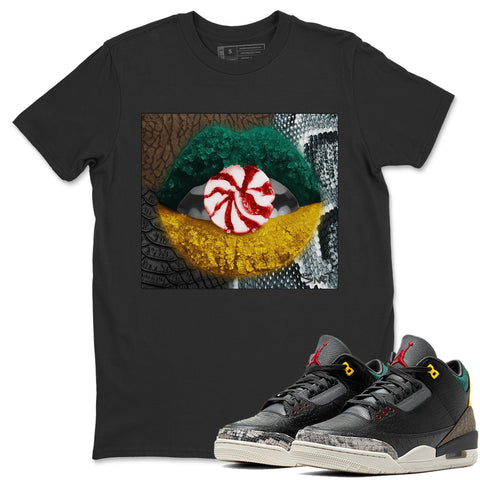 Lips Candy T-Shirt - Air Jordan 3 Animal Instinct 2.0 Air Jordan 3 Shirt Jordan 3 Animal Instinct 2.0 Black S