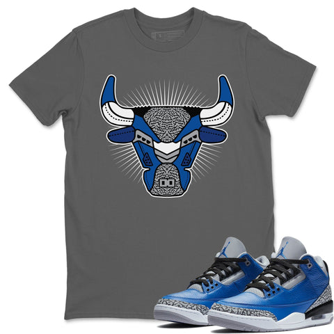 Air Jordan 3 Retro Varsity Royal Blue Cement Sneaker Shirts And Sneaker Matching Outfits Lips Candy Cool Grey Shirt Image