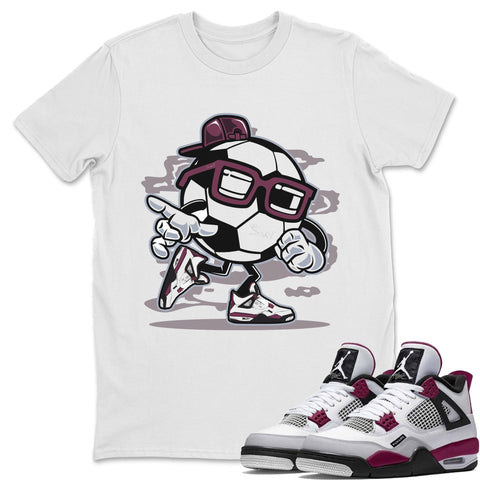Air Jordan 4 PSG Sneaker Shirts And Sneaker Matching Outfits Soccer Boy White T Shirt Image
