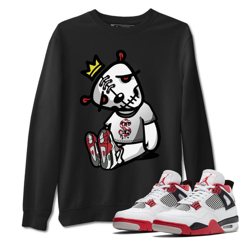 Air Jordan 4 Retro Fire Red Sneaker Sweatshirts And Sneaker Matching Outfits Dead Dolls Black Long Sleeve Pullovers Image