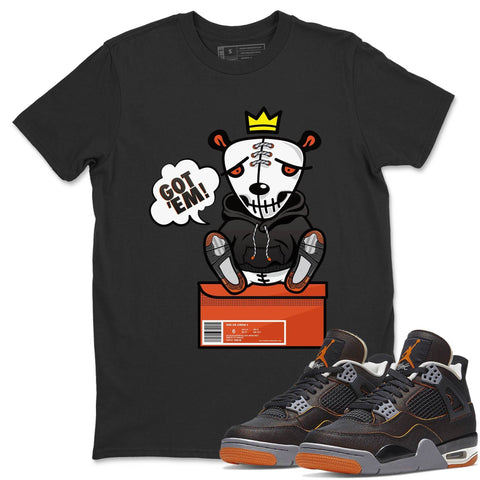 Air Jordan 4 WMNS Retro Starfish Sneaker Crew Neck Unisex T Shirt Matching Outfits AJ4 Womens Orange Got Em Short Sleeve Tees 4s Black Orange Image Black S