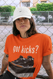 Air Jordan 4 WMNS Retro Starfish Sneaker Crew Neck Unisex T Shirt Matching Outfits AJ4 Womens Orange Got Kicks Short Sleeve Tees 4s Black Orange Image Orange S 4