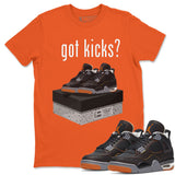 Air Jordan 4 WMNS Retro Starfish Sneaker Crew Neck Unisex T Shirt Matching Outfits AJ4 Womens Orange Got Kicks Short Sleeve Tees 4s Black Orange Image Orange S