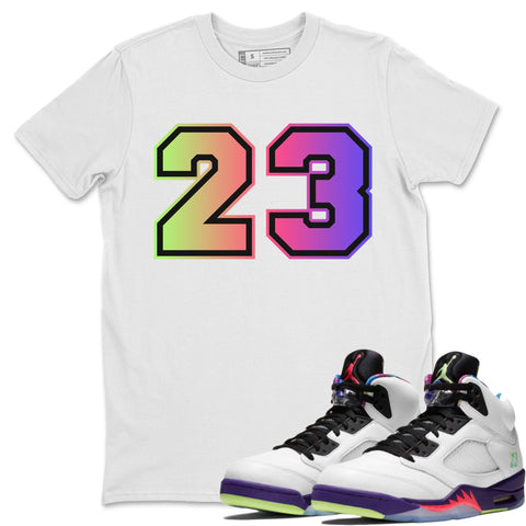 Number 23 T-Shirt - Air Jordan Ghost Green Air Jordan 5 Shirt Jordan 5 Ghost Green White S