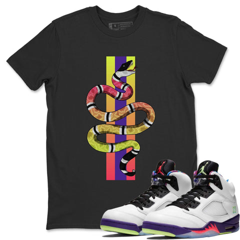 Snake T-Shirt - Air Jordan Ghost Green Air Jordan 5 Shirt Jordan 5 Ghost Green Black S