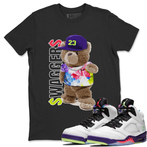 Bear Swaggers T-Shirt - Air Jordan Ghost Green Air Jordan 5 Shirt Jordan 5 Ghost Green Black S