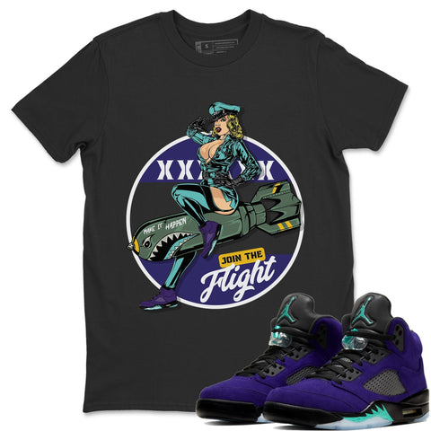 Pin Up Girl T-Shirt - Air Jordan 5 Purple Grape Air Jordan 5 Shirt Jordan 5 Purple Grape Black S
