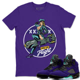 Pin Up Girl T-Shirt - Air Jordan 5 Purple Grape Air Jordan 5 Shirt Jordan 5 Purple Grape Purple S