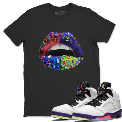 Lips Jewel T-Shirt - Air Jordan Ghost Green Air Jordan 5 Shirt Jordan 5 Ghost Green Black S