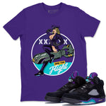 Pin Up Girl T-Shirt - Air Jordan 5 Black Grape Air Jordan 5 Shirt Jordan 5 Black Grape Purple S