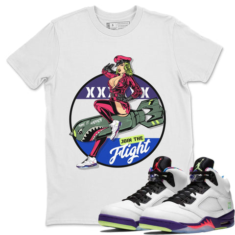 Pin Up Girl T-Shirt - Air Jordan Ghost Green Air Jordan 5 Shirt Jordan 5 Ghost Green White S