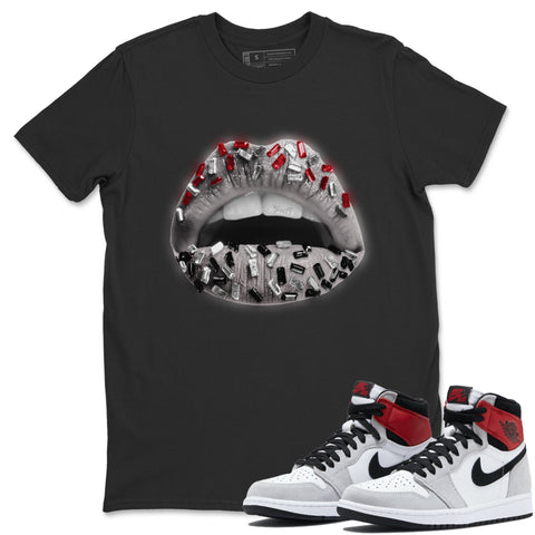 Lips Jewel T-Shirt - Air Jordan 1 Smoke Grey Air Jordan 1 Shirt Jordan 1 Smoke Grey Black S