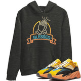 Adidas Yeezy 700 V1 Sun Sneaker Unisex Hoodie And Sneaker Matching Outfits Sun Black Orange Yeezy 700 V1 Blessed Charcoal Heather Hoodies Image 3