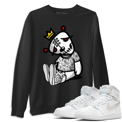 Air Jordan 1 High 85 Neutral Grey Dead Dolls Unisex Long Sleeve Sweatshirt Matching Outfits AJ1 85 Neutral Grey Shirt Image Black Long Sleeve Sweaters