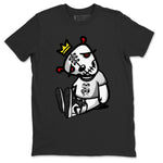 Air Jordan 1 High OG WMNS Silver Toe Dead Dolls Crew Neck T-Shirt Matching Unisex Outfits AJ1 Women's Silver Toe Image Black Short Sleeve Tees 2