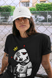 Air Jordan 1 High OG WMNS Silver Toe Dead Dolls Crew Neck T-Shirt Matching Unisex Outfits AJ1 Women's Silver Toe Image Black Short Sleeve Tees 4