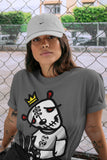 Air Jordan 1 High OG WMNS Silver Toe Dead Dolls Crew Neck T-Shirt Matching Unisex Outfits AJ1 Women's Silver Toe Image Cool Grey Short Sleeve Tees 4