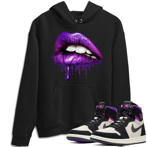 Dripping Lips Hoodie - Air Jordan 1 Zoom Comfort PSG