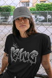 Air Jordan 5 Retro Anthracite King Graffiti Crew Neck T-Shirt Matching Outfits AJ5 Anthracite Image Black Short Sleeve Tees 4