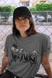 Air Jordan 5 Retro Anthracite King Graffiti Crew Neck T-Shirt Matching Outfits AJ5 Anthracite Image Cool Grey Short Sleeve Tees 4