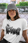 Air Jordan 5 Retro Anthracite King Graffiti Crew Neck T-Shirt Matching Outfits AJ5 Anthracite Image White Short Sleeve Tees 4