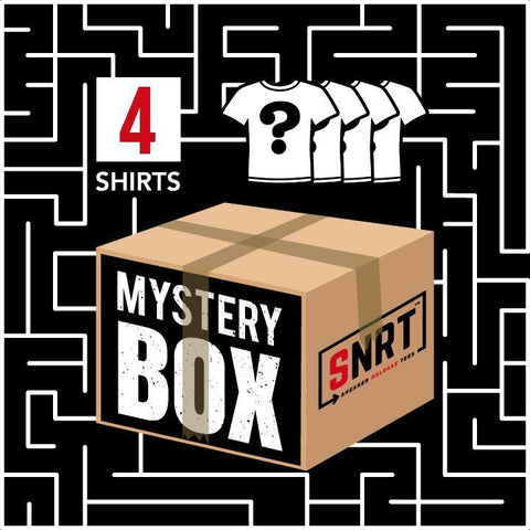 4 T-shirts | Mystery Box 40% OFF Mystery Box Sneaker Release Tees