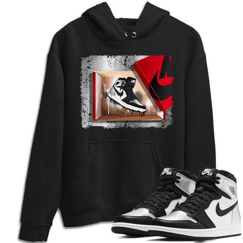 Air Jordan 1 High OG WMNS Silver Toe New Kicks Unisex Hoodie Matching Outfits 1s Women's Silver Toe Hoodies Image Black Long Sleeve Sweaters