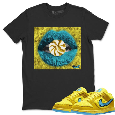 Lips Candy T-shirt - Nike Dunk Grateful Dead Opti Yellow Nike Dunk Shirt Dunk Grateful Dead