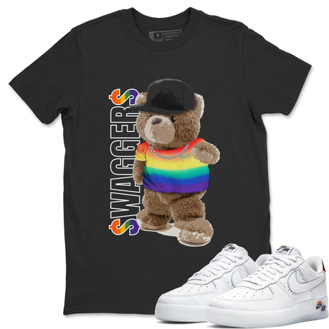 Bear Swaggers T-Shirt - Air Force 1 BETRUE Air Force 1 Shirt Force 1 Betrue Black S