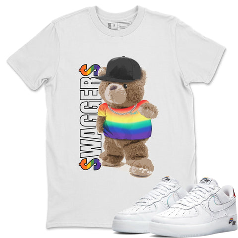 Bear Swaggers T-Shirt - Air Force 1 BETRUE Air Force 1 Shirt Force 1 Betrue White S