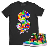 Dollar Camo T-Shirt - Air Jordan 1 Retro High J Balvin Queer Air Jordan 1 Unisex Crew Neck T Shirt Jordan 1 Retro High J Balvin Black Tee