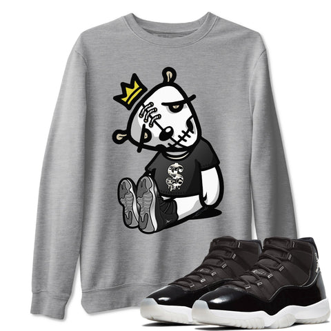 Dead Dolls Unisex Sweatshirt - Air Jordan 11 Retro Jubilee 25th Anniversary Sneaker Matching Outfits Long Sleeve Heather Grey Pullover S