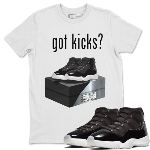 Got Kicks T-Shirt - Air Jordan 11 Retro Jubilee 25th Anniversary Air Jordan 11 Unisex Crew Neck T Shirt Jordan 11 Retro Jubilee White Tee