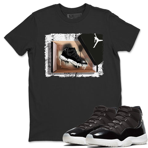 New Kicks T-Shirt - Air Jordan 11 Retro Jubilee 25th Anniversary Air Jordan 11 Unisex Crew Neck T Shirt Jordan 11 Retro Jubilee Black Tee