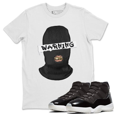Warning T-Shirt - Air Jordan 11 Retro Jubilee 25th Anniversary Air Jordan 11 Unisex Crew Neck T Shirt Jordan 11 Retro Jubilee White Tee