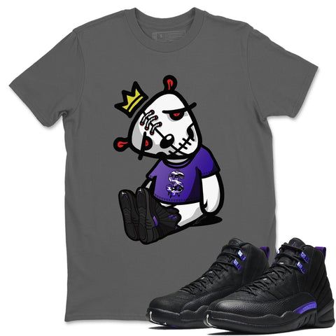 Air Jordan 12 Retro Dark Purple Concord Sneaker Unisex Shirts And Outfits Dead Dolls Cool Grey Short Sleeve Tees S