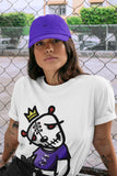 Air Jordan 12 Retro Dark Purple Concord Sneaker Unisex Shirts And Outfits Dead Dolls White Short Sleeve Tees S 4