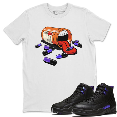 Air Jordan 12 Retro Dark Purple Concord Sneaker Unisex T Shirts And Outfits Sneaker Addiction white Short Sleeve Tees S