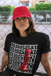Queen T-Shirt - Air Jordan 12 Retro Reverse Flu Game Air Jordan 12 Red Black Unisex Crew Neck T Shirt Reverse Flu Game 12s Black Tee 4