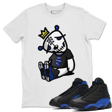 Dead Dolls T-Shirt - Air Jordan 13 Retro Black Hyper Royal Air Jordan 13 Unisex Crew Neck T Shirt Jordan 13 Retro Hyper Royal White Tee